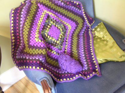 This crochet throw will take a year to complete.